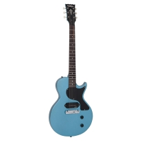 Vintage Icon V120TB LPJ-Style Electric Guitar In Gun Hill Blue