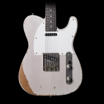 Vintage Icon V62MRAB 62 TELE-Style Distressed White Ash Electric Guitar