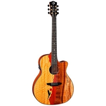 Luna VISTAEAGLE Acoustic/Electric Guitar, Tropical Wood
