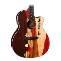 Luna Vista Mustang Tropical Wood Acoustic-Electric Guitar, Natural