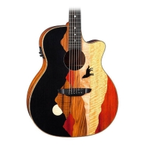 Luna Vista Series Wolf Grand Auditorium Acoustic-Electric Guitar