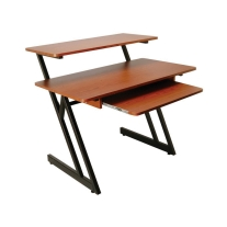 On Stage WS7500RB Series Wood Workstation in Rosewood/Black Steel