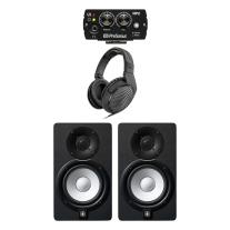 "Yamaha HS5 5"" Powered Studio Monitor Pair Bundle w/ HP2 and HD200Pro Headphones"