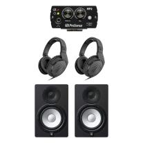 "Yamaha HS7 6.5"" Powered Studio Monitor Pair Bundle w/ HP2 & HD200Pro Headphones"