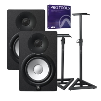 "Yamaha HS7 6.5"" Powered Studio Monitor Pair, Pro Tools and Gator Stand Bundle"