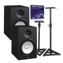 "Yamaha HS8 8"" Powered Studio Monitor Pair, Pro Tools and Gator Stand Bundle"