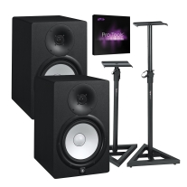 "Yamaha HS8 8"" Powered Studio Monitor Pair, ProTools and Gator Stand Bundle"