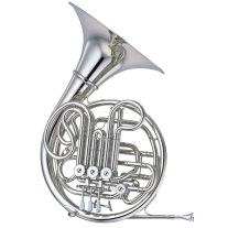 Yamaha Professional Double French Horn in Nickel-Silver with Detachable Bell