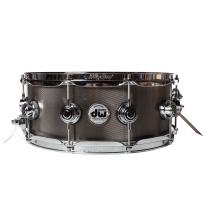 DW Collectors Series 5.5x14 Knurled Black Nickel Over Steel Snare Drum