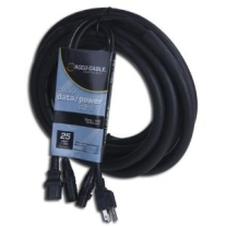 Accu Cable 25' 3-Pin DMX/Power Cable