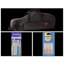 Alto Music Back to School Alto Sax Bundle with Black Gator Case and 3.0 Reeds