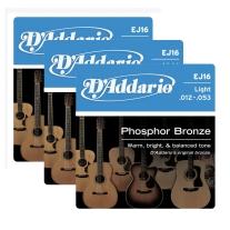 D'Addario EJ16 3-Pack of Acoustic Strings