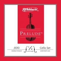 "D'Addario Prelude Cello String Set 1/4"""" Scale Medium Tension"
