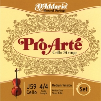 D'ADDARIO J59 Pro-Arté Cello 4/4 Scale Medium Tension Set