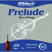"D'Addario J610 Prelude Bass 1/4"""" Scale String Set"