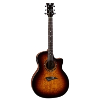 Dean Exotica EQA Quilted Ash Cutaway in Trans Brazilla Guitar