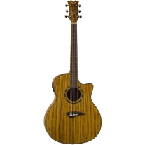 Dean Exotica Zebrawood Acoustic/Elec Guitar Natural Finish