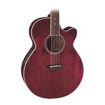 Dean Performer E Acoustic/Elec Guitar in Trans Red