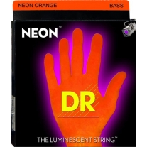 DR Strings NOB-45 45-105 Orange Neon Bass Strings