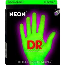 DR NGE-9 Green Neon Guitar Strings Lite