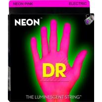 DR NPE-10 Pink Neon Guitar Strings Medium