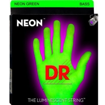 DR NEON NGB545 Neon Green Coated Nickel 5 String Bass Guitar Strings, Medium