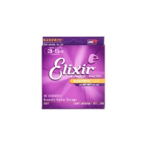 Elixir 11077 Nanoweb 80/20 Bronze Acoustic Strings