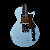 Fano Alt De Facto SP6 Electric Guitar in Blue Boy Light Distress