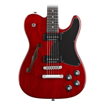 Fender Jim Adkins JA-90 Telecaster Thinline Guitar in Crimson Red Transparent Finish