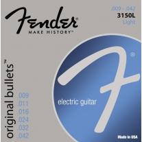 Fender 3150L Original 150 Pure Nickel Bullet-End Electric Guitar Strings Light