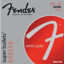 Fender 3250L Nickel-Plated Steel Bullet-End Electric Guitar Strings Light Gauge