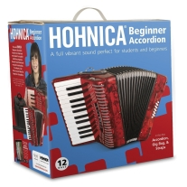 Hohner 1303RED 12 Bass Entry Level Student Accordion