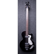 Hofner Ignition Club Bass Singlecut in Trans Black Finish