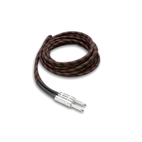 Hosa 3GT-18C5 Guitar Cable Cloth Bk Rd 18ft