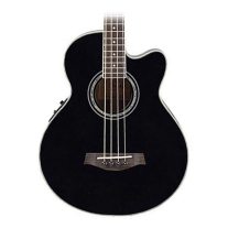 Ibanez AEB10E Acoustic-Electric Bass Guitar in Black