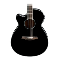 Ibanez AEG10LIIBK Left Handed Acoustic Electric Guitar in Black