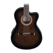 Ibanez GA35TCE Thinline Acoustic Electric Classical Guitar in Dark Violin Burst