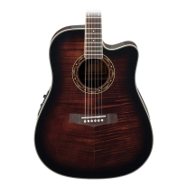 Ibanez PF28ECEDVS PF Series Acoustic/Elec Guitar in Dark Violin Sunburst