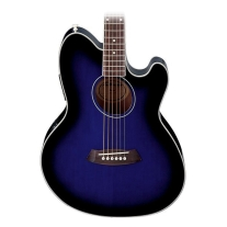 Ibanez TCY10ETBS Talman Acoustic/Elec Guitar in Transparent Blue