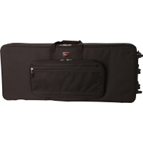 Gator GK61SLIM Lightweight 61-Note Keyboard Case with Wheels