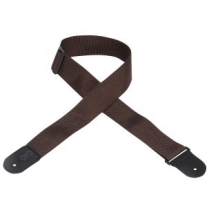 "Levy's 2"" Polypropylene Logo Guitar Strap In Brown"