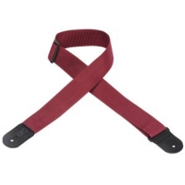 "Levy'S 2"" Polypropylene Logo Guitar Strap in Burgundy"