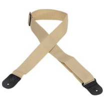 "Levy's 2"" Polypropylene Logo Guitar Strap in Tan"
