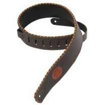 """Levy's 2.5"""" Signature Series Garment Leather Guitar Strap in Dark"""