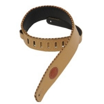 "Levy's 2.5"" Signature Series Garment Leather Guitar Strap in Tan"