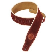 """Levy'S MSS3CP 2.5"""" Suede Strap in Burgundy"""