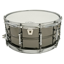"Ludwig LB417T 6.5x14"" Brass Shell Black Beauty Snare Drum"
