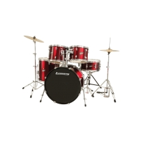 Ludwig LC1754 Accent Drive Complete Drum Kit in Wine Red