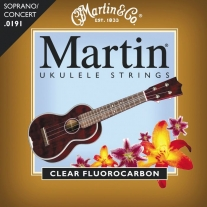 Martin Soprano Ukulele Strings - Clear Fluorocarbon