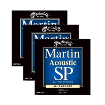 Martin MSP3200 Medium Bronze Acoustic Guitar Strings (3-Pack)